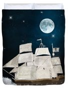 The Pirate Ghost Ship Duvet Cover