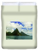 The Pitons Duvet Cover