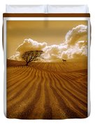 The Ploughed Field Duvet Cover by Mal Bray