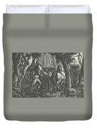 The Ploughman Christian Ploughing The Last Furrow Of Life Duvet Cover