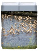 The Plovers Duvet Cover