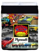 The Plymouth Rapid Transit System Collage Duvet Cover