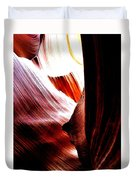 The Polished Rocks Of Lower Antelope Canyon Duvet Cover