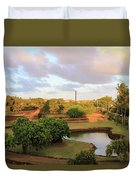 The Pond At Prince Kuhio Park Duvet Cover