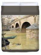 The Pont Marie. Paris Duvet Cover