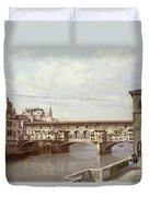 The Pontevecchio - Florence  Duvet Cover by Antonietta Brandeis