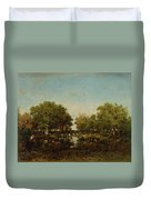 The Pool, Memory Of The Forest Of Chambord Duvet Cover