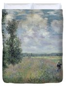 The Poppy Field Duvet Cover by Claude Monet