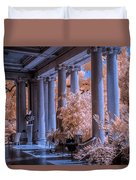 The Porch Of The European Collection Art Gallery At The Huntington Library In Infrared Duvet Cover