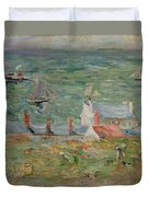 The Port Of Gorey On Jersey Duvet Cover by Berthe Morisot