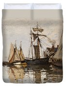The Port Of Honfleur Duvet Cover by Claude Monet