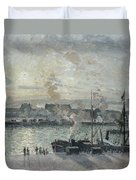 The Port Of Rouen Duvet Cover