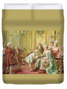 The Presentation Of The Young Mozart To Mme De Pompadour At Versailles Duvet Cover