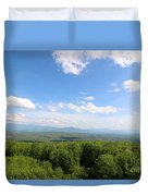 The Presidential Range From The Watchtower At Weeks State Park Duvet Cover