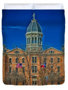 The Presidio County Courthouse Duvet Cover