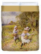 The Primrose Gatherers Duvet Cover