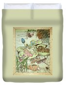 The Princess And The Frogs Duvet Cover