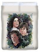 The Princess, The Knight And The Scoundrel Duvet Cover