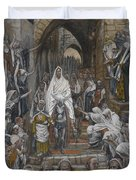 The Procession In The Streets Of Jerusalem Duvet Cover
