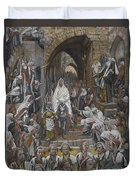 The Procession In The Streets Of Jerusalem Duvet Cover by Tissot
