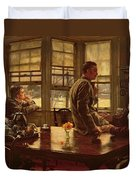 The Prodigal Son In Modern Life  The Departure Duvet Cover