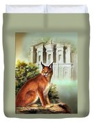 The Protector Of The City Of Petra Duvet Cover