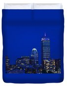 The Pru Lit Up In Red White And Blue For The Fourth Of July Duvet Cover