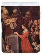 The Purification Of The Virgin 1640 Duvet Cover