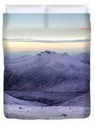 The Purple Headed Mountains Duvet Cover