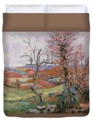 The Puy Barion At Crozant Duvet Cover by Jean Baptiste Armand Guillaumin