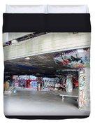 The Queen's Skatepark Duvet Cover