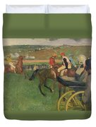 The Race Course Duvet Cover by Edgar Degas