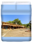 The Railroad Station In Scarsdale Duvet Cover