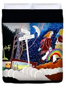 The Rainbow Family Moved Away Duvet Cover