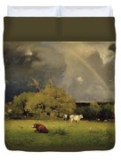 The Rainbow Duvet Cover by George Inness Senior