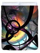 The Randomness Of It All Abstract Duvet Cover