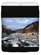 The Rapids In Winter Duvet Cover