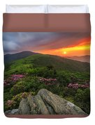 The Rare Light Of Sunset  Duvet Cover