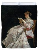 The Reader Duvet Cover by Alfred Emile Stevens
