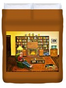 The Reading Room Duvet Cover
