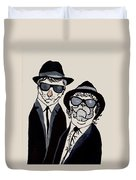 The Real Blues Brothers Duvet Cover