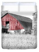 The Red Barn - Sketch 0004 Duvet Cover by Ericamaxine Price