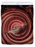 The Red Bird Duvet Cover