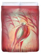 The Red Bird Duvet Cover