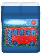 The Red Bus Duvet Cover