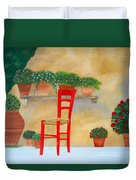 The Red Chair, Tuscany Duvet Cover