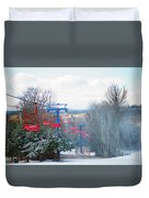 The Red Chairlift Duvet Cover