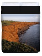 The Red Cliffs Of Prince Edward Island Duvet Cover