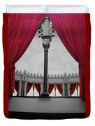 The Red Curtain Duvet Cover