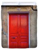 The Red Door. Duvet Cover